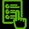liste de choix avec un doigt qui pointe vers l'un d'eux. | Multi-Prêts Hypothèques | Victor Hugo Pereira | Agence hypothécaire